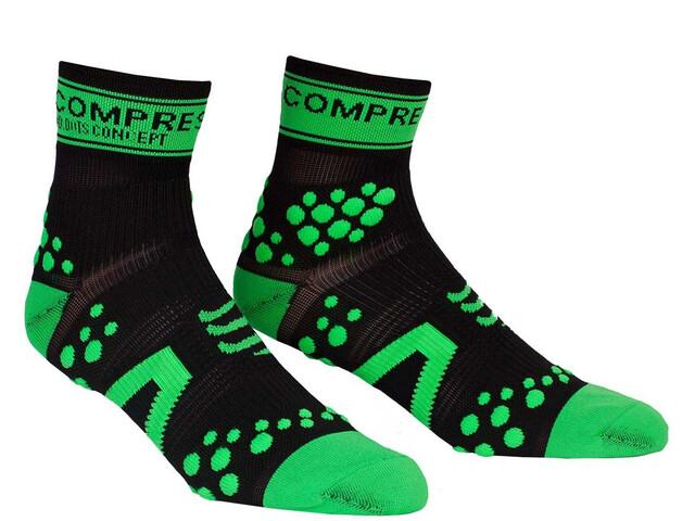 Compressport Racing V2 Run High Socks black/green